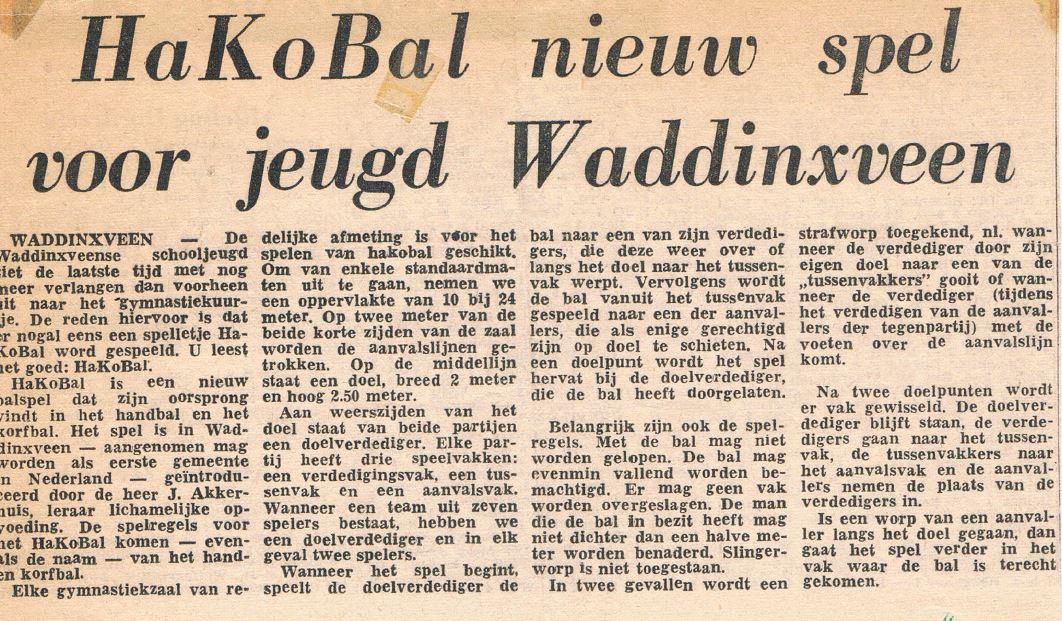 hakobal in Rotterdamse courant